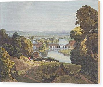 Caversham Bridge, Near Reading Wood Print by William Havell