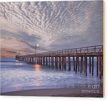 Cayucos Pier Wood Print by Alice Cahill
