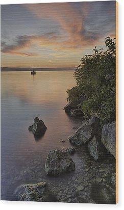 Cayuga Sunset I Wood Print