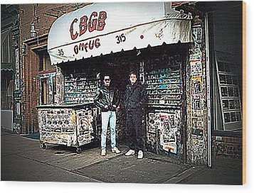 Cbgb New York 1992 Wood Print