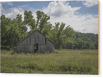 Cedar Creek Barn II Wood Print by Wayne Meyer