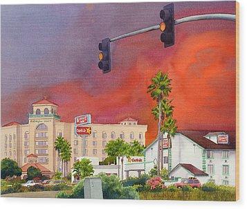 Cedar Fire San Diego 2003 Wood Print by Mary Helmreich