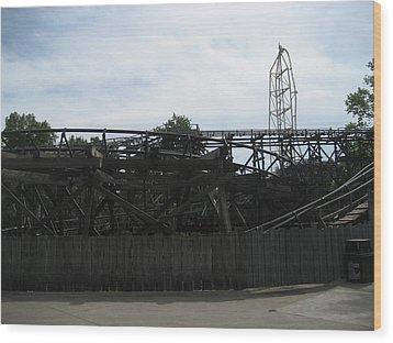 Cedar Point - Cedar Creek Mine Ride - 12121 Wood Print by DC Photographer
