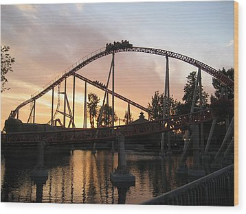 Cedar Point - Maverick - 12121 Wood Print by DC Photographer