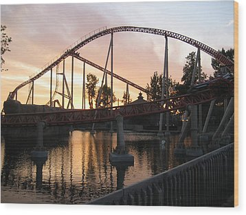 Cedar Point - Maverick - 12122 Wood Print by DC Photographer