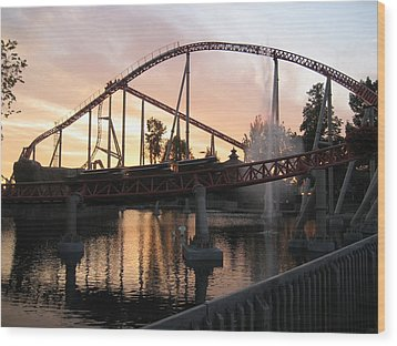 Cedar Point - Maverick - 12123 Wood Print by DC Photographer