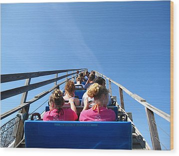Cedar Point - Mean Streak - 12122 Wood Print by DC Photographer