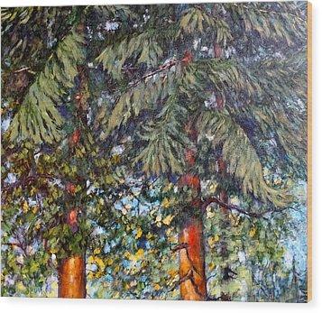 Cedars Wood Print by Charles Munn