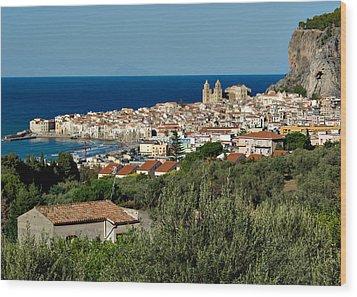 Cefalu Sicily Wood Print by Alan Toepfer