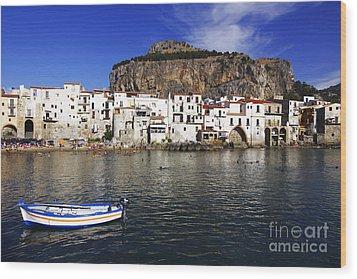 Cefalu - Sicily Wood Print by Stefano Senise