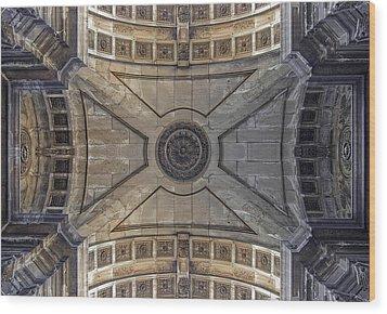 Ceiling  Arcoarua De Augusta Wood Print by Nathan Mccreery