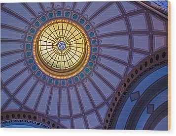 Wood Print featuring the photograph Ceiling In The Chattanooga Choo Choo Train Depot by Susan  McMenamin