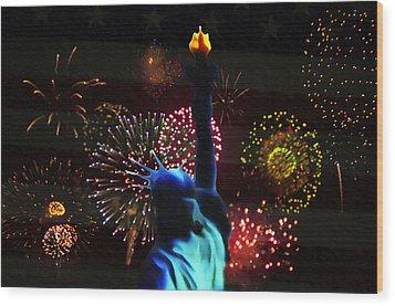 Celebrate America Wood Print by Bill Cannon