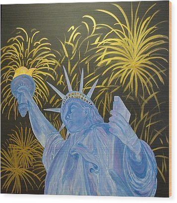 Celebrate Freedom Wood Print by Cheryl Lynn Looker
