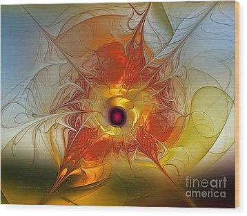 Celebration For A Rising Star-abstract Fractal Art Wood Print by Karin Kuhlmann