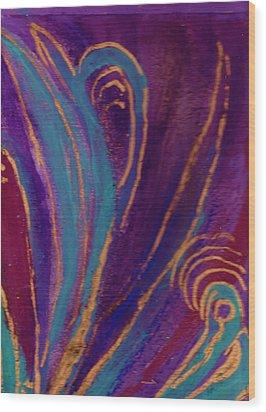 Celebration Iv Wood Print by Anne-Elizabeth Whiteway