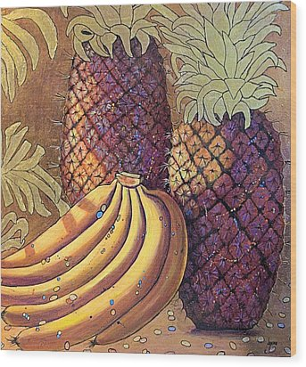 Celebration Wood Print by JAXINE Cummins