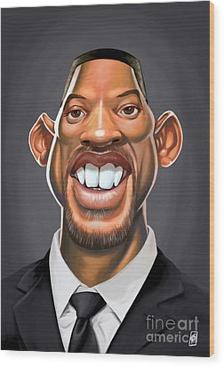 Celebrity Sunday - Will Smith Wood Print