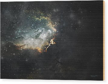 Celestial Wood Print by Cynthia Lassiter