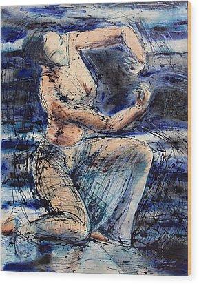 Celestial Dancer Wood Print by Brenda Clews