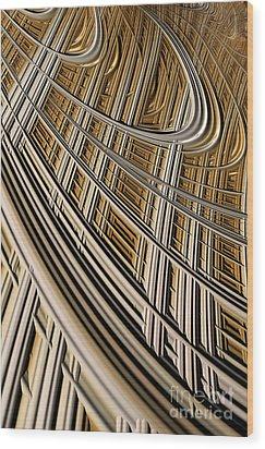 Celestial Harp Wood Print by John Edwards