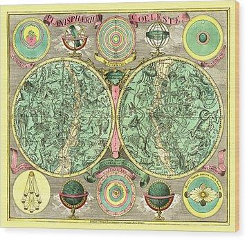 Celestial Map Wood Print by Gary Grayson