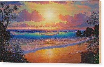 Celestial Shores Wood Print by Loren Adams