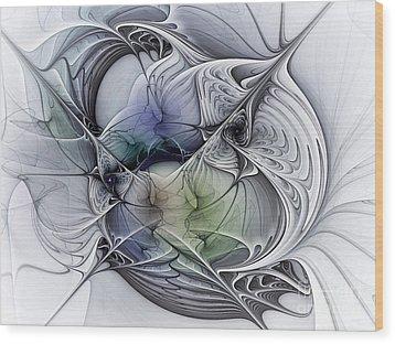 Celestial Sphere Abstract Art Wood Print by Karin Kuhlmann