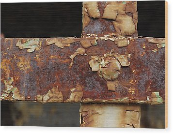 Wood Print featuring the photograph Cell Strapping by Fran Riley