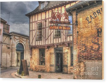 Cellier St. Pierre Troyes France Wood Print by Malu Couttolenc