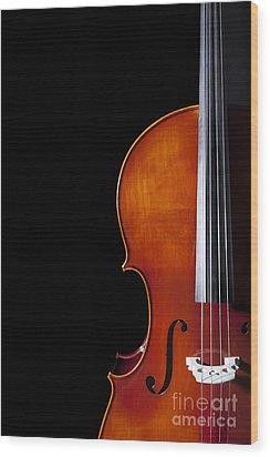 Cello Wood Print