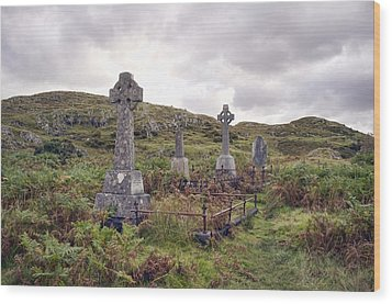 Wood Print featuring the photograph Celtic Cemetary by Hugh Smith