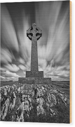 Celtic Cross Wood Print by Dave Bowman