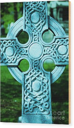 Celtic Cross Wood Print by Kathleen Struckle