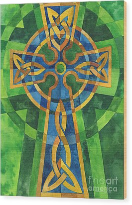 Celtic Cross Wood Print by Mark Jennings