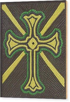 Celtic Cross Wood Print by Paul London