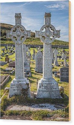 Celtic Crosses Wood Print by Adrian Evans