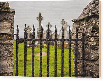 Celtic Graveyard Wood Print by Craig Brown