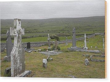 Celtic Graveyard Wood Print