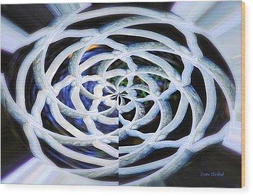Celtic Knot Wood Print by Donna Blackhall