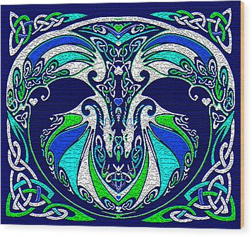 Celtic Love Dragons Wood Print by Michele Avanti
