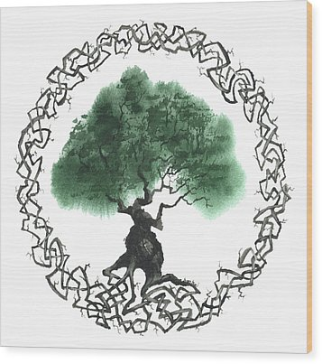 Celtic Tree Of Life 2 Wood Print
