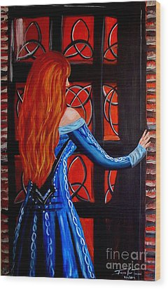 Celtic Woman Wood Print