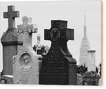 Cemetery City Wood Print