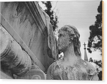 Cemetery Gentlewoman Wood Print by Jennifer Ancker