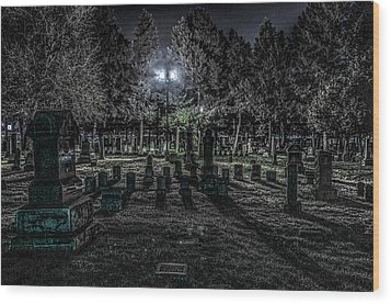 Cemetery  Wood Print by Ray Congrove