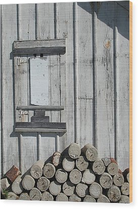 Cemetery Shed Wood Print by Joseph Yarbrough