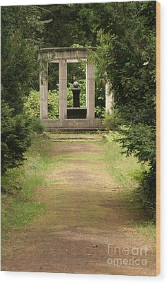 Cemetery Stahnsdorf Berlin Wood Print by Art Photography