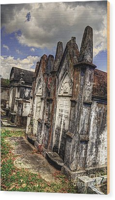 Cemetery Tomb New Orleans Wood Print