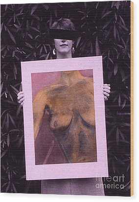 Censored Artist Wood Print